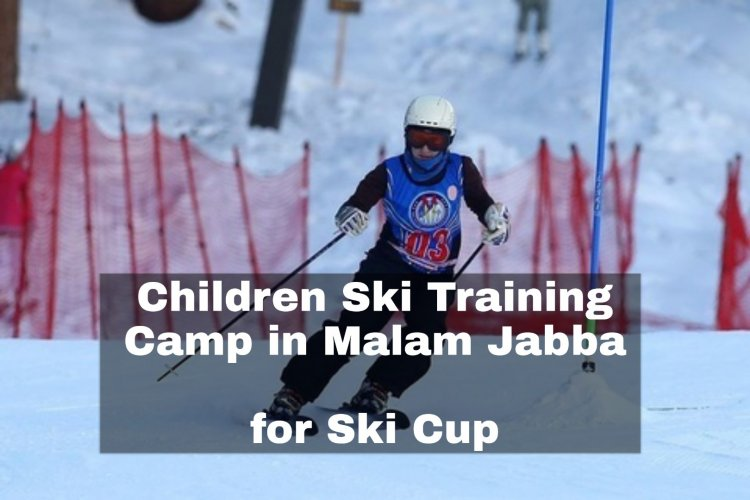 Children training camp for Ski-Cup in Malam Jabba
