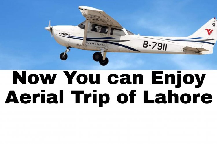 Flight Trip Over Lahore on Small Aircraft